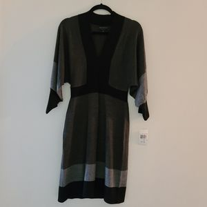 CONNECTED APPAREL dalman sleeves  sweater dress